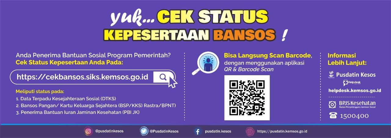 Cek Status Kepesertaan Bansos