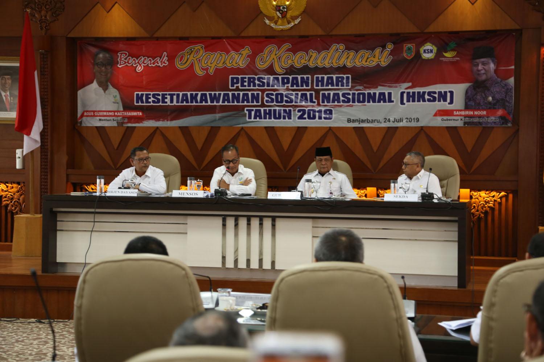 Mensos Menghadiri Rapat Koordinasi HKSN Tahun 2019