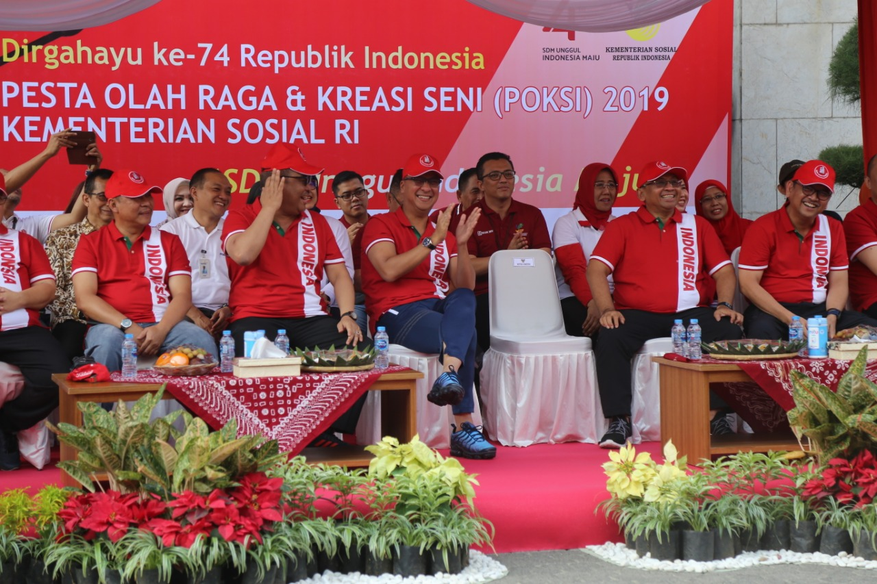 Ministry of Social Affairs' Sports and Arts Festival Welcomes the 74th Anniversary of Indonesian Independence