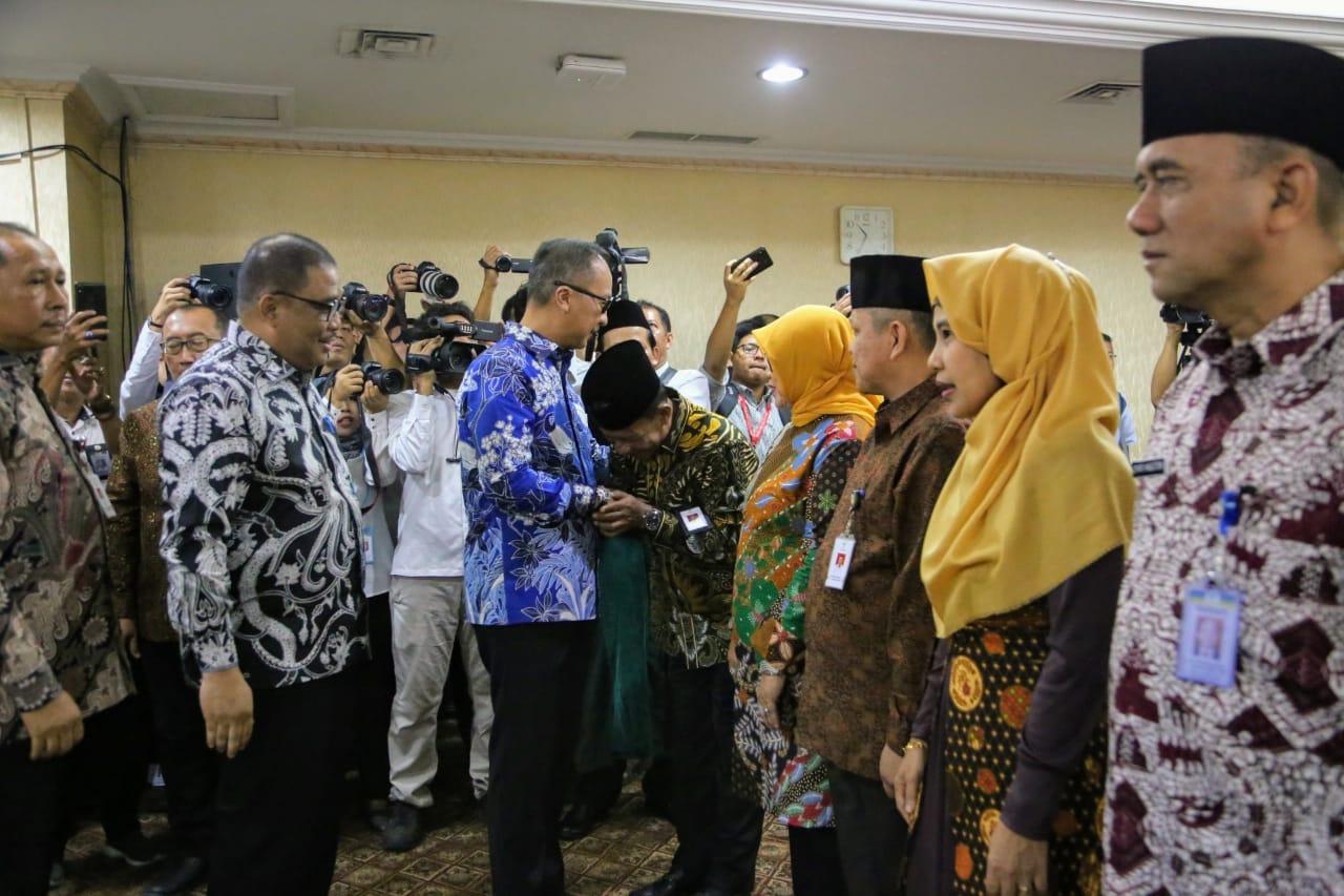 Mensos Lantik Pejabat Tinggi Pratama di Lingkungan Kementerian Sosial