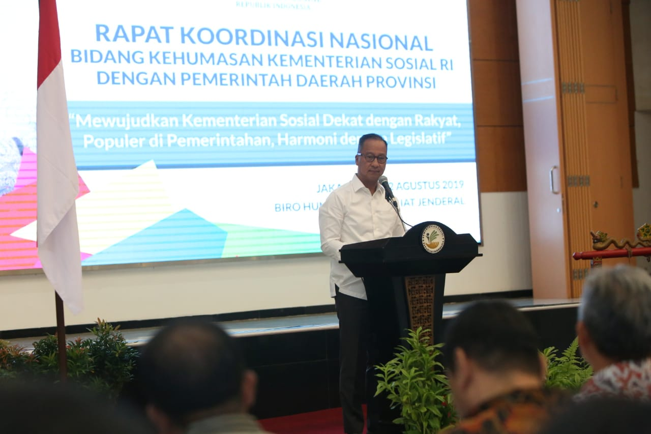 Mensos Hadiri Rapat Koordinasi Nasional Bidang Kehumasan 2019