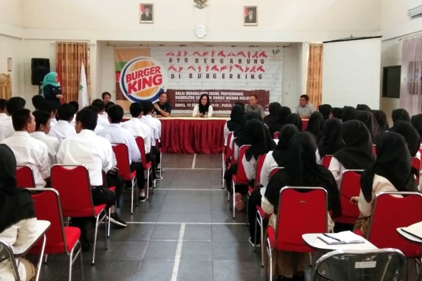 """Burger King Rekrut Penerima Manfaat BRSPDSRW """"Melati"""""""
