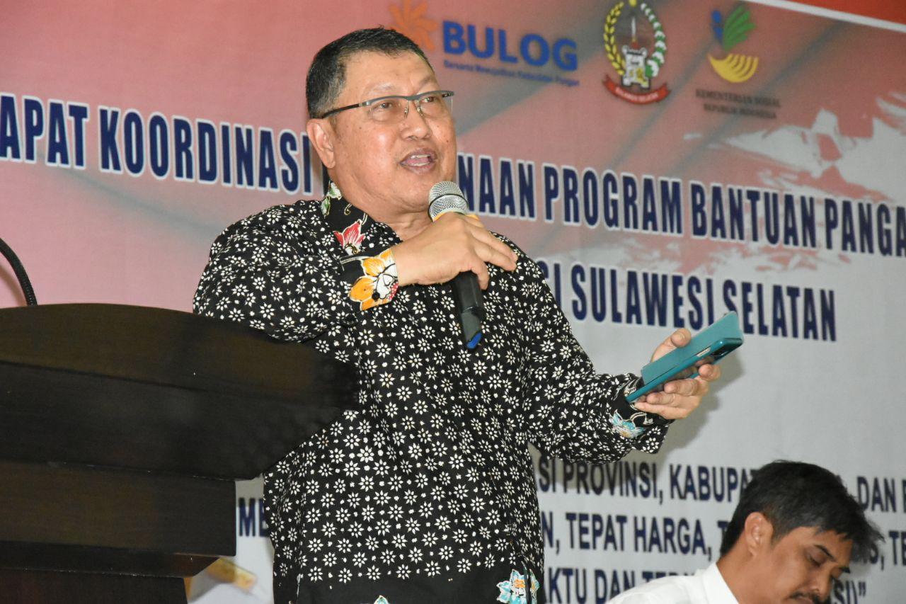 Rapat Koordinasi Penyaluran BPNT dengan SDM di Sulawesi Selatan