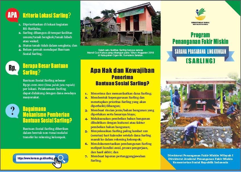 Leaflet Sarana Prasarana Lingkungan (SARLING)
