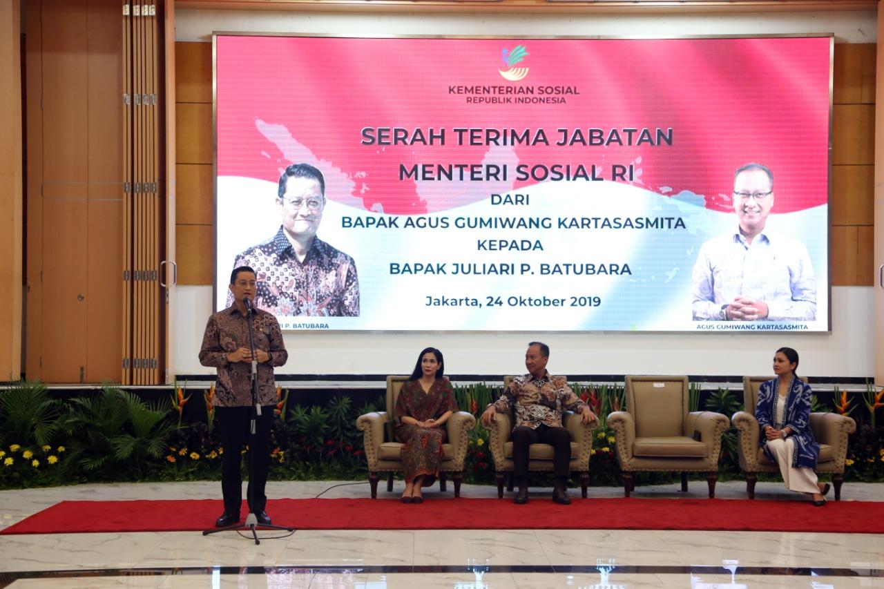 Serah Terima Jabatan Menteri Sosial 2019-2024