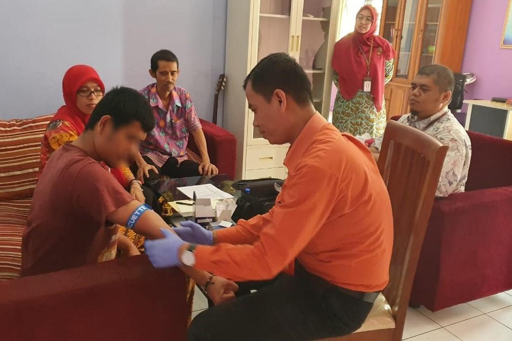 "BRSKPN ""Bambu Apus"" Lakukan Tes HIV bagi PPKS"