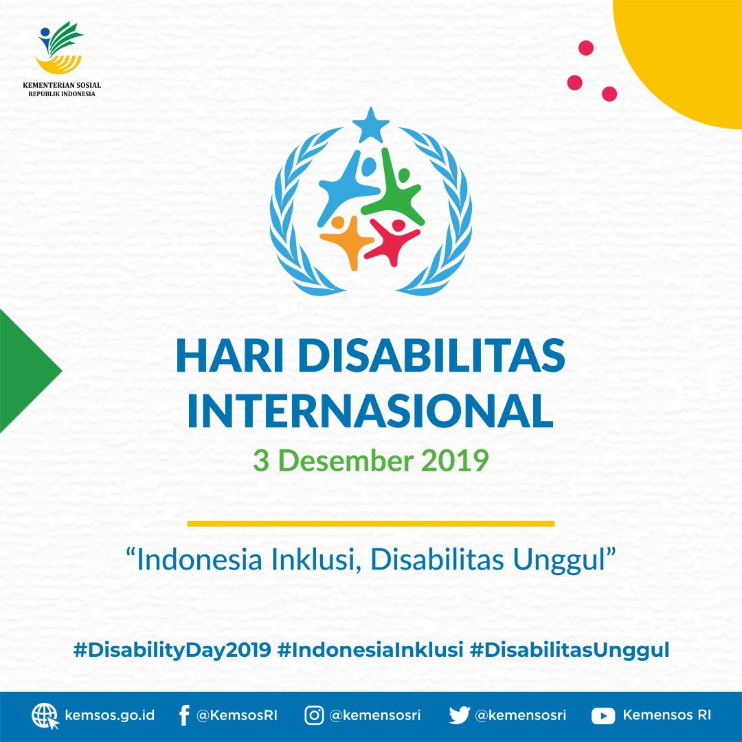 Selamat Hari Disabilitas Internasional 2019