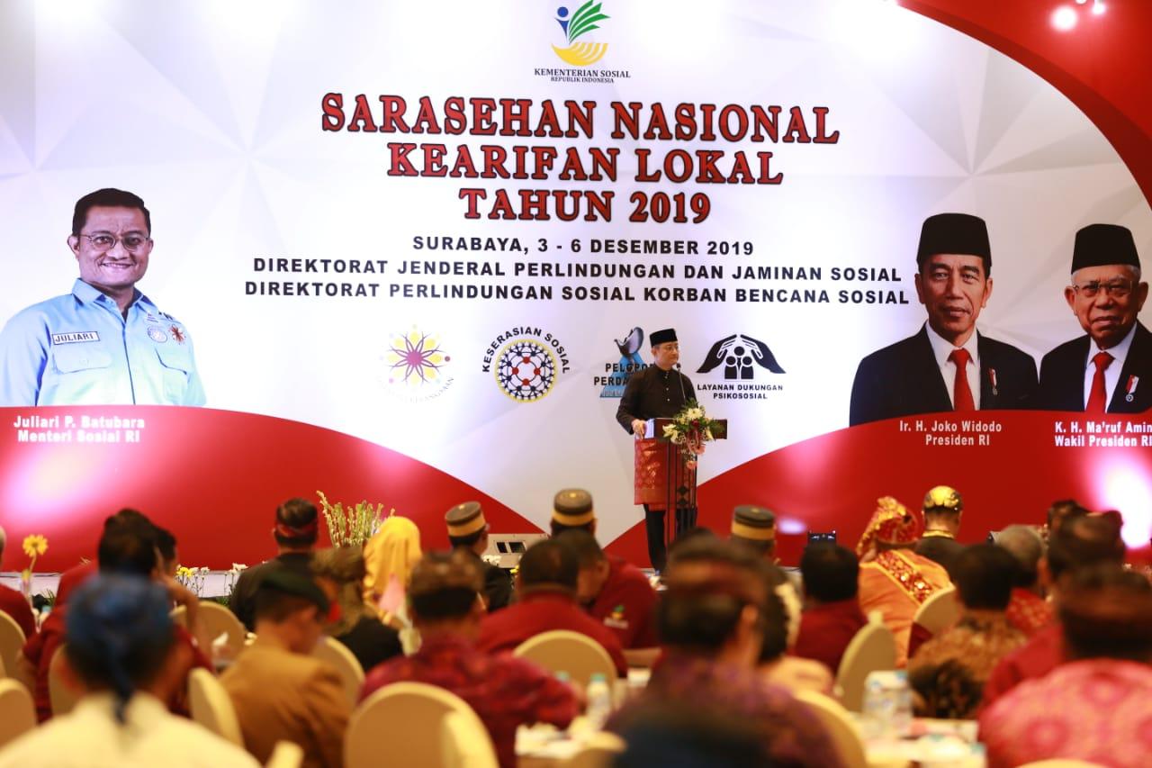 Mensos Hadiri Sarasehan Nasional Kearifan Lokal Tahun 2019