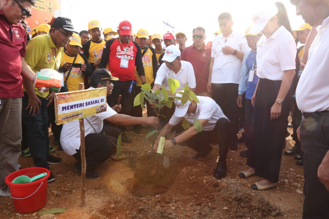 Mensos Tanam 1.000 Pohon di Kebun Raya Banoa