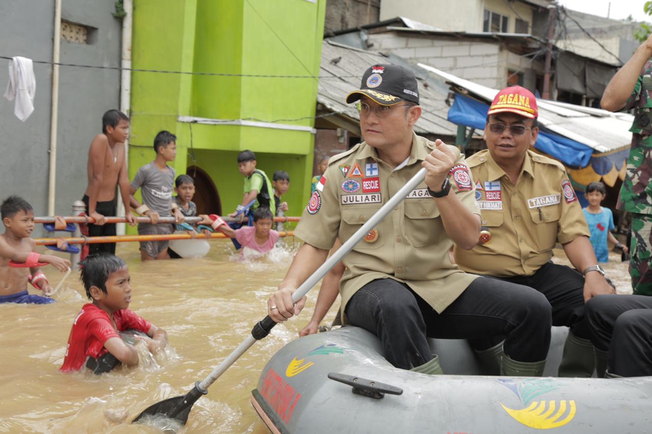 Mensos Himbau Korban Banjir Segera Mengungsi