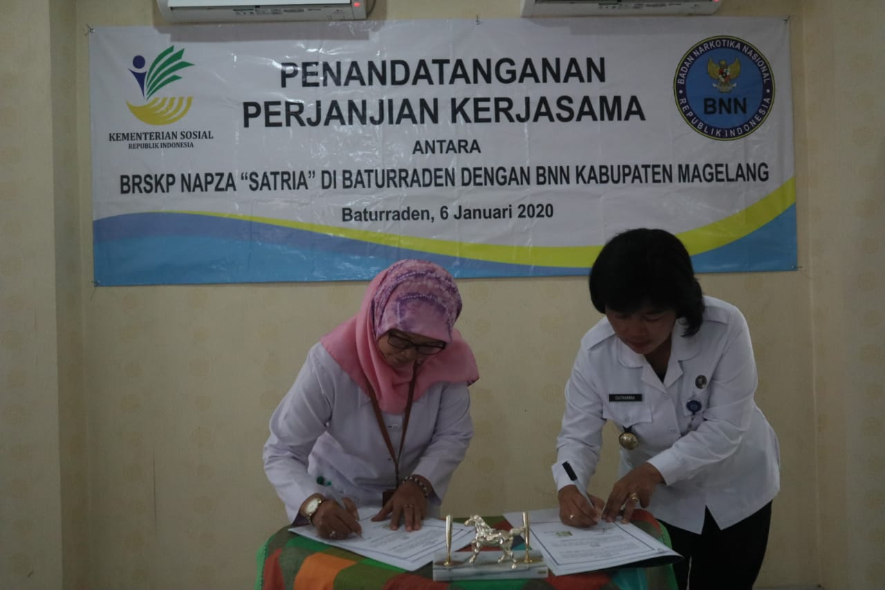 """BRSKPN """"Satria"""" Baturraden Jalin Kerjasama dengan BNN Kabupaten Magelang"""