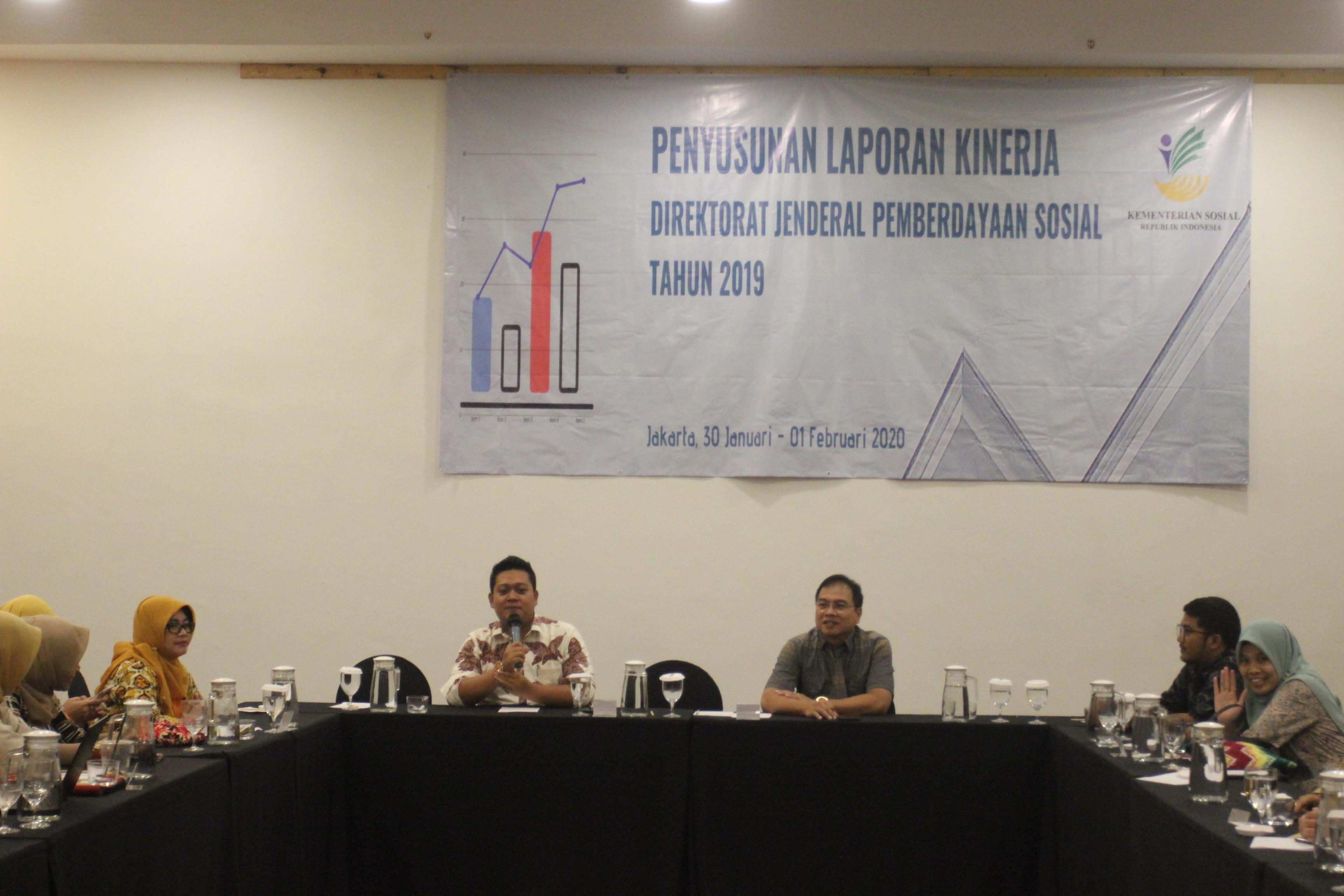 Rapat Penyusunan Laporan Kinerja Direktorat Jenderal Pemberdayaan Sosial