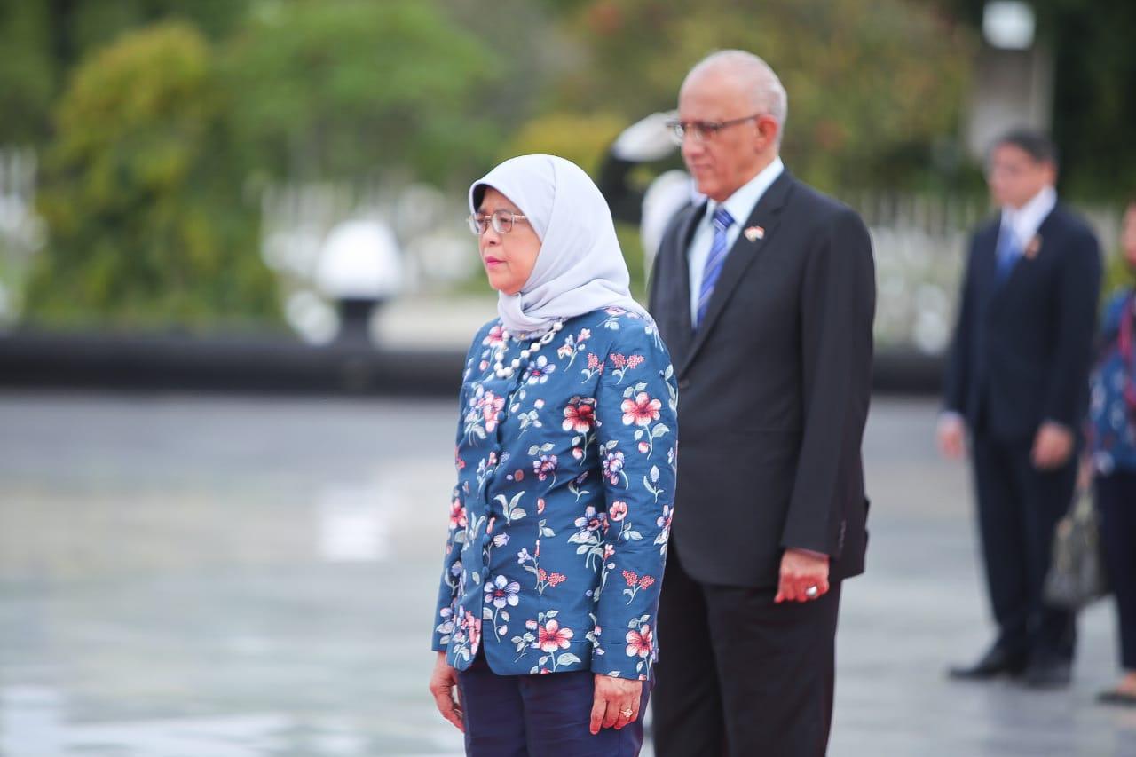 Kunjungan Presiden Singapura ke Taman Makam Pahlawan Nasional Utama Kalibata