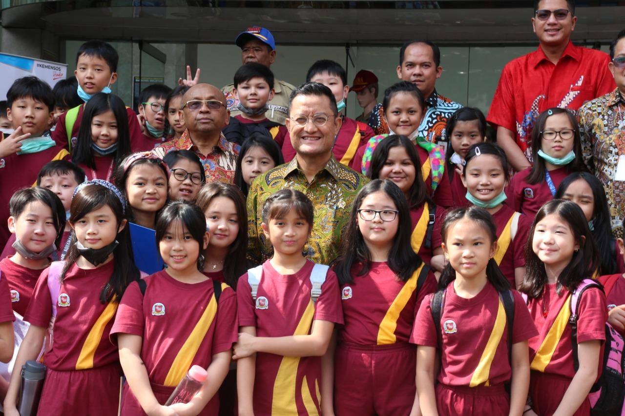 SD Bina Nusantara Lakukan Kunjungan Belajar ke Kemensos