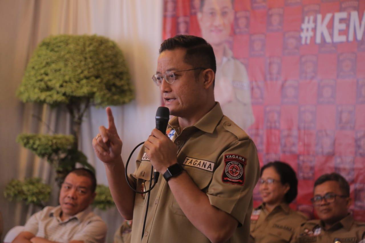 Mensos Silaturahmi dengan Tagana Jabodetabek