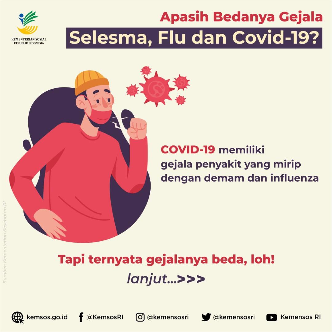 Apa Bedanya Gejala Selesma, Flu, dan COVID-19?