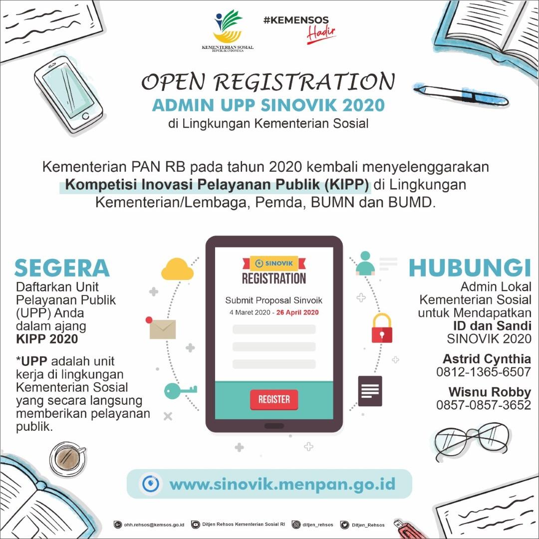 Pendaftaran Admin UPP Sinovik 2020