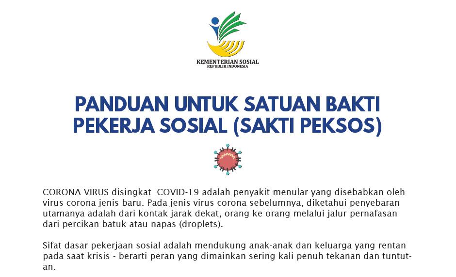 Panduan untuk Satuan Bakti Pekerja Sosial (SAKTI PEKSOS) menghadapi COVID-19