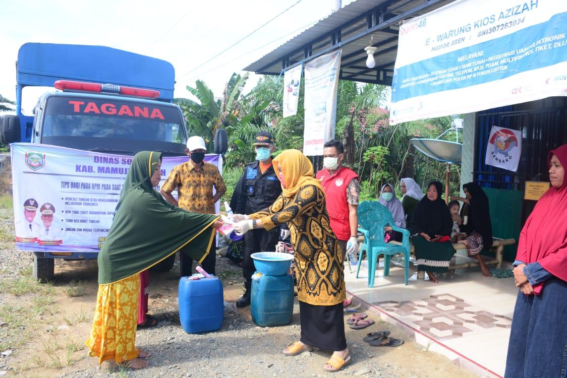 Dinsos Mamuju Tengah Sosialisasi Pencegahan COVID-19 di e-Warong