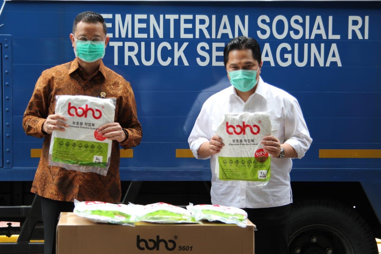 Kemensos Distribusikan 200 Ribu Paket Sembako dan Makanan Siap Saji