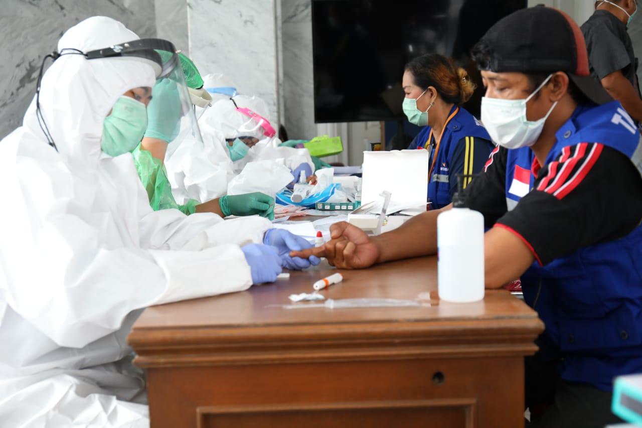 Tes Cepat Virus Corona untuk Personil Tagana