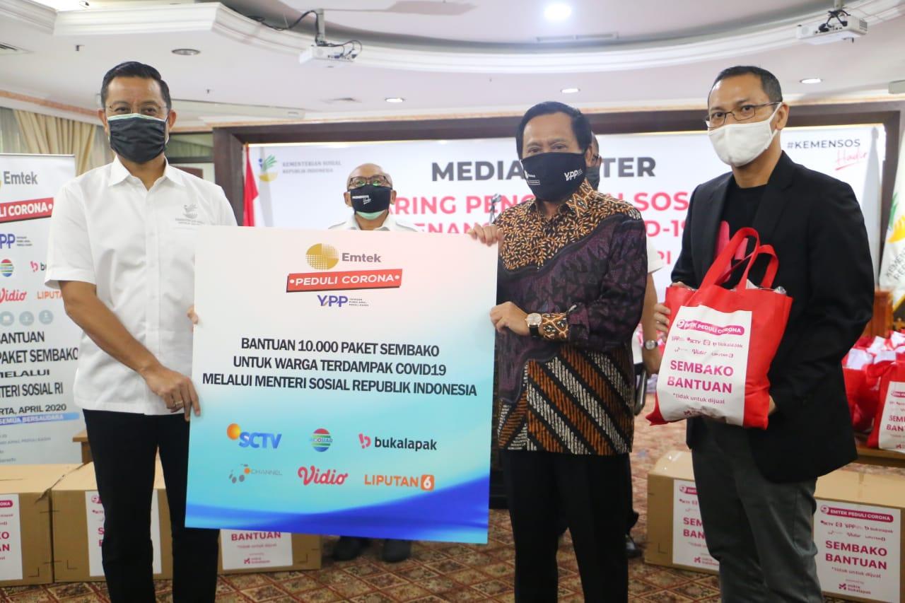 Kemensos Jalin Sinergitas dengan YPP SCTV Indosiar Salurkan Bantuan Hasil Donasi Masyarakat