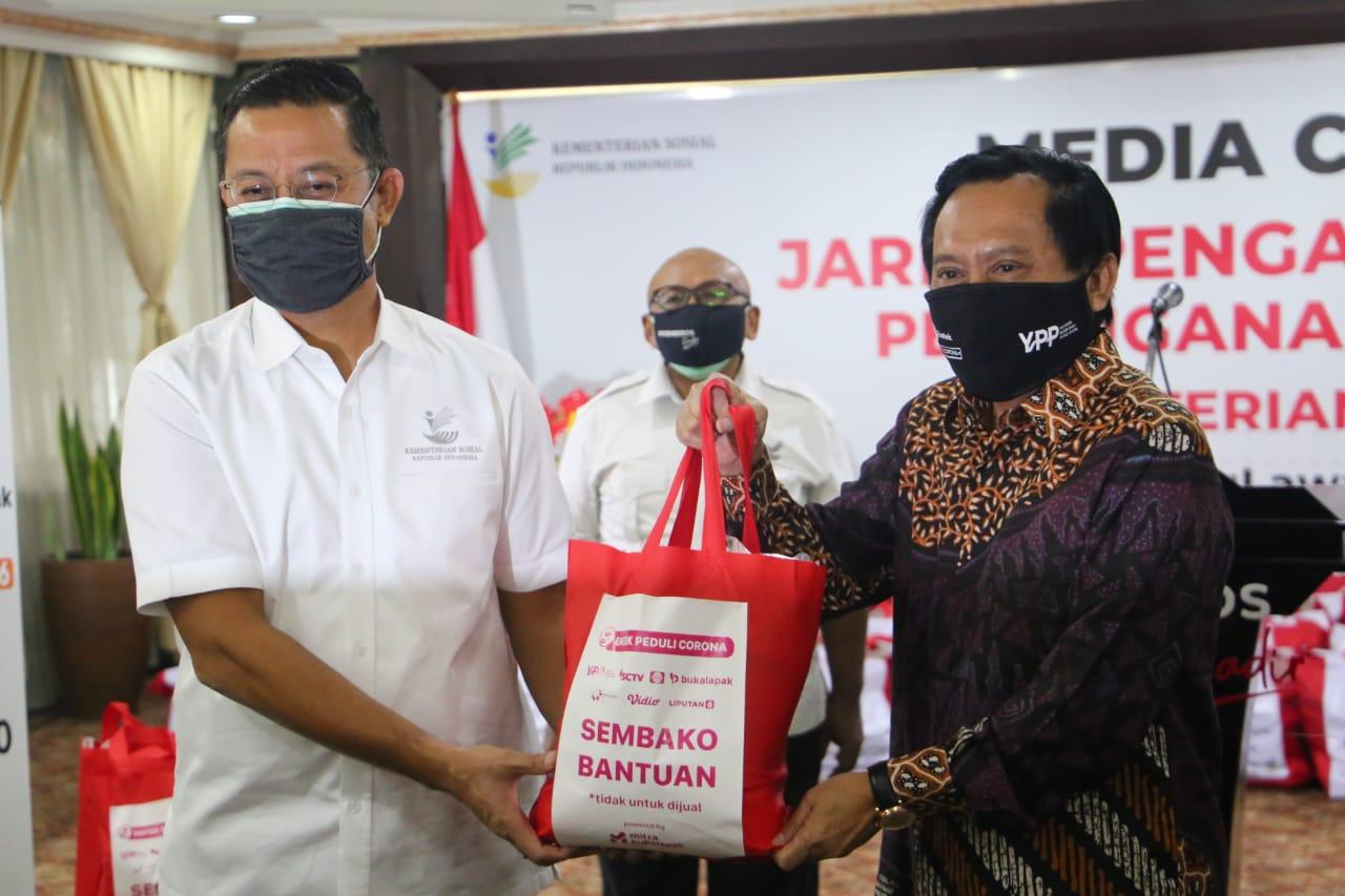 Tanggap COVID-19, Kemensos Jalin Sinergitas dengan YPP SCTV Indosiar