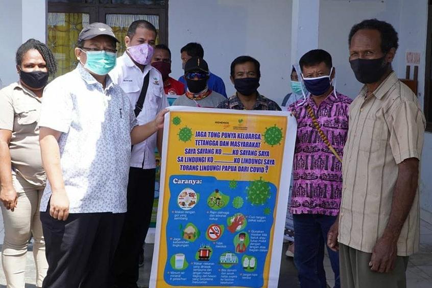 Tim LDP dan KIE BBPPKS Jayapura Berikan Himbauan Kepada Masyarakat