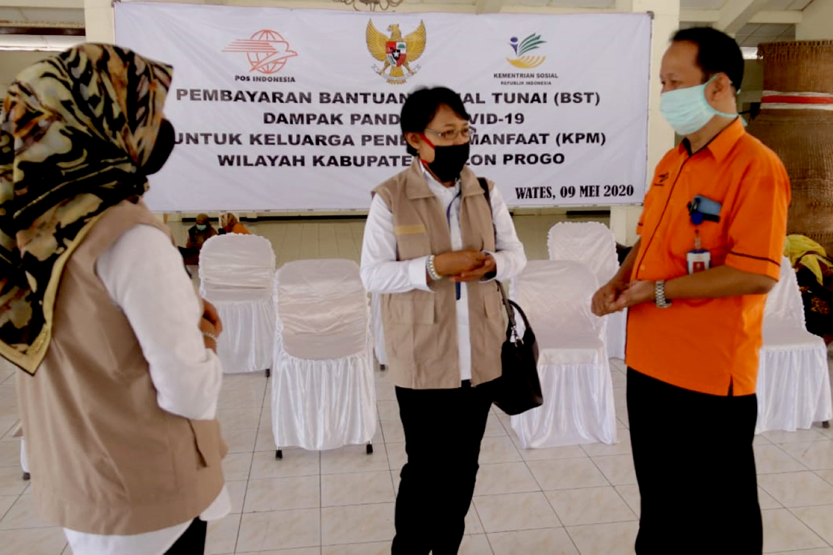 BBPPKS Jogja Pantau Penyaluran Bansos di Wates, Kulon Progo