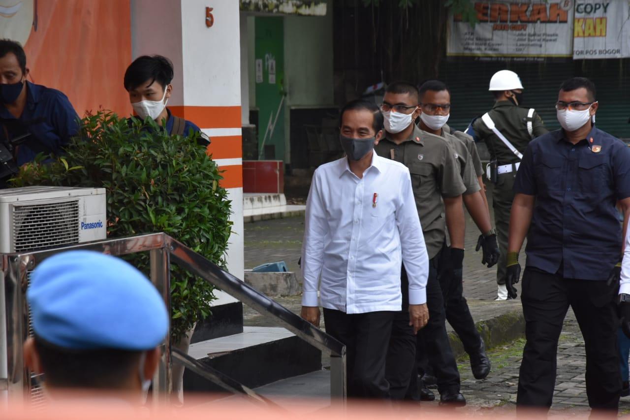Presiden Jokowi Pantau Bansos Tunai di Kota Bogor