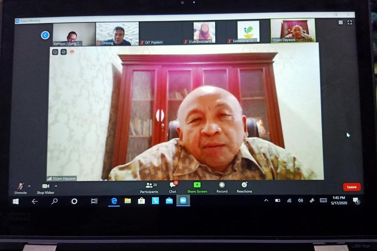 Rapat Telekonferensi tentang Bansos Beras COVID-19