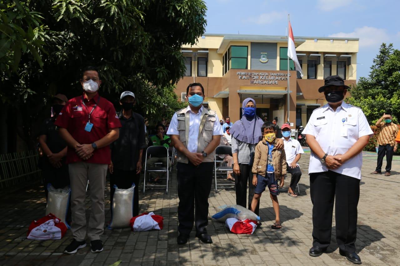 Mensos Cek Penyaluran Bansos di Kota Tangerang