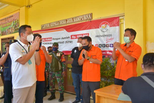 H-1 Lebaran, Mensos Pantau Penyaluran BST di Kabupaten Bekasi