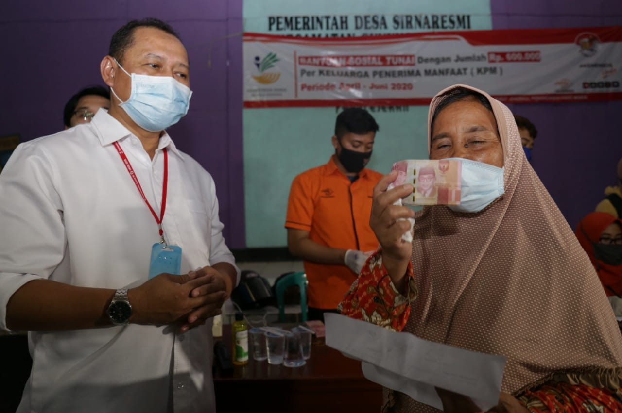 Inspector General Ensures BST Distribution in Bogor and Sukabumi