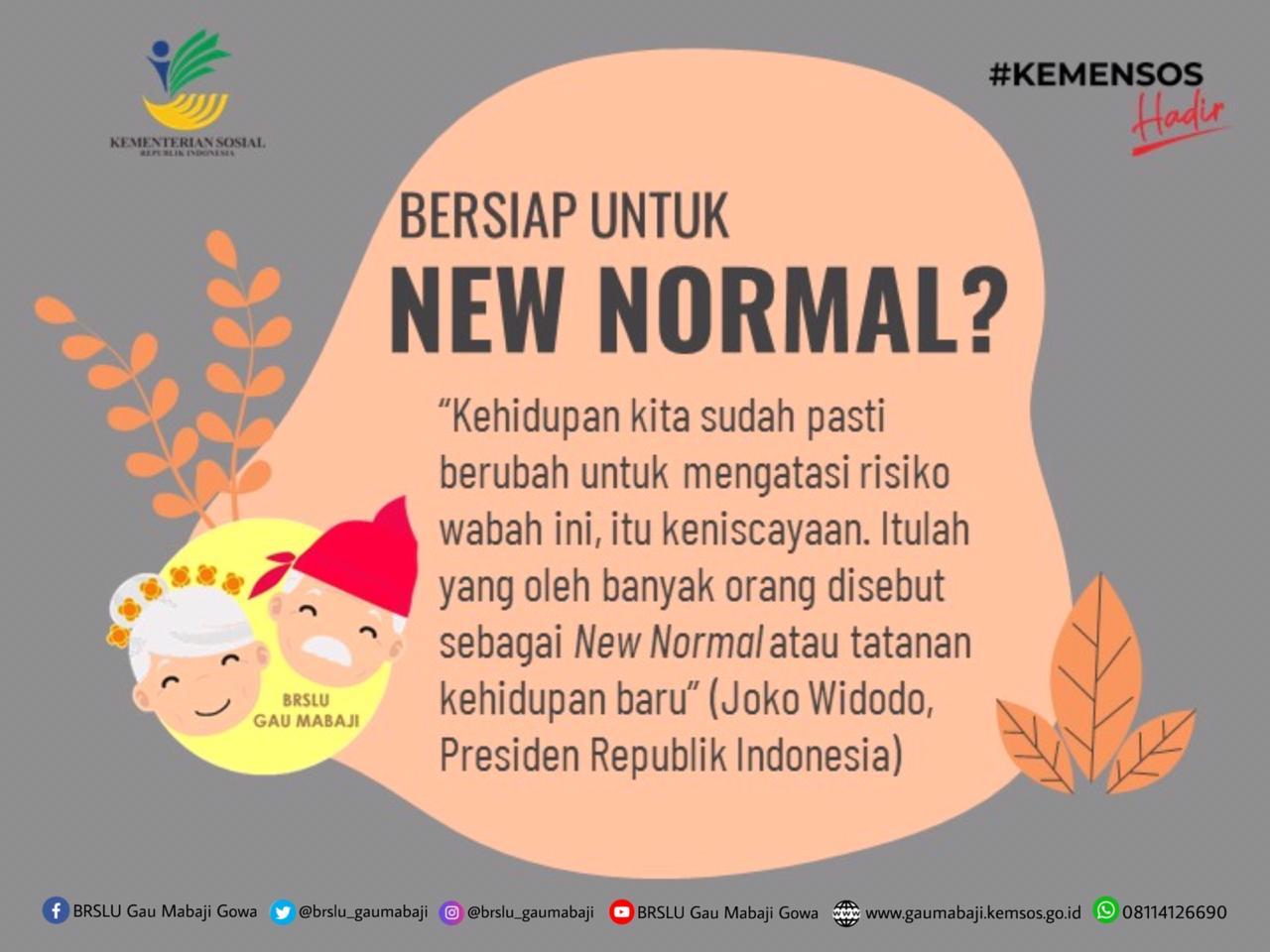 """""""New Normal"""", Tahukah Anda?"""