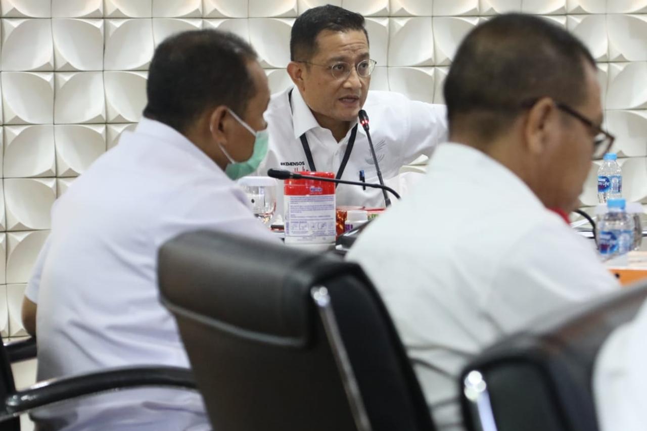 Rapat Evaluasi Data Bansos Sembako DKI Jakarta
