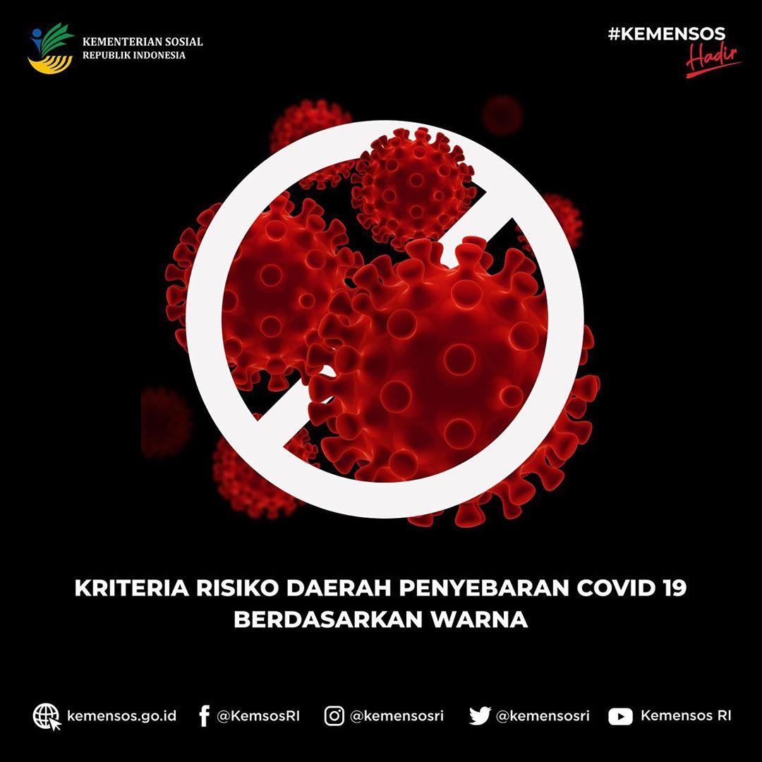 Kriteria Resiko Daerah Penyebaran COVID-19 Berdasarkan Warna