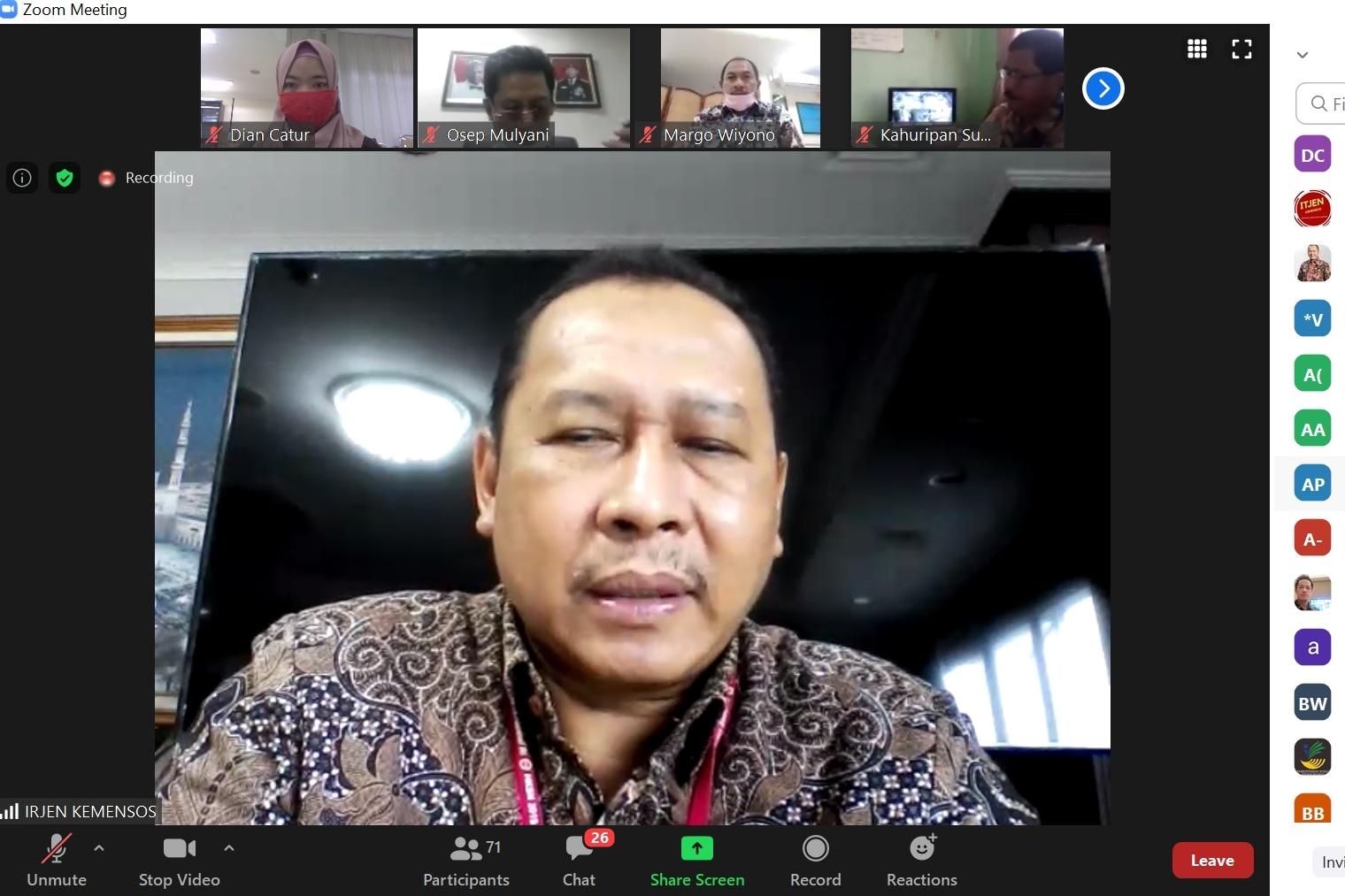 Inspektorat Jenderal Perkuat SPIP di UPT Balai Rehabilitasi Sosial