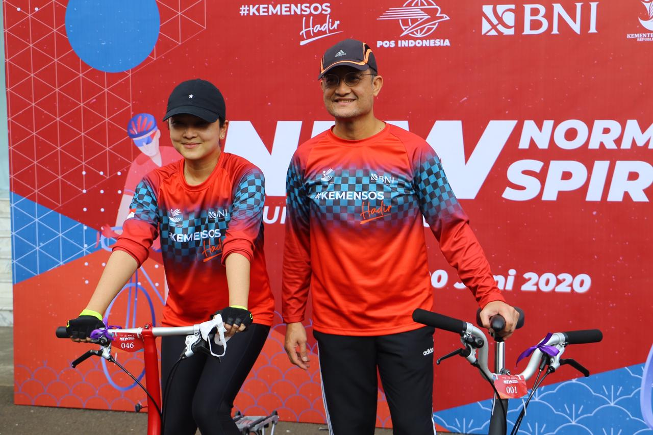 "Sambut ""New Normal"", Kemensos dan BNI Selenggarakan ""Fun Bike"""