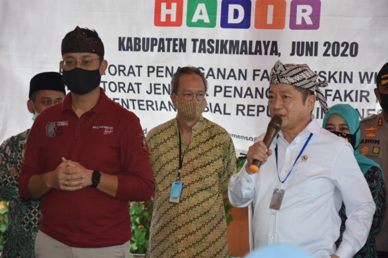 Dua Menteri Pantau BST di Kabupaten Tasikmalaya