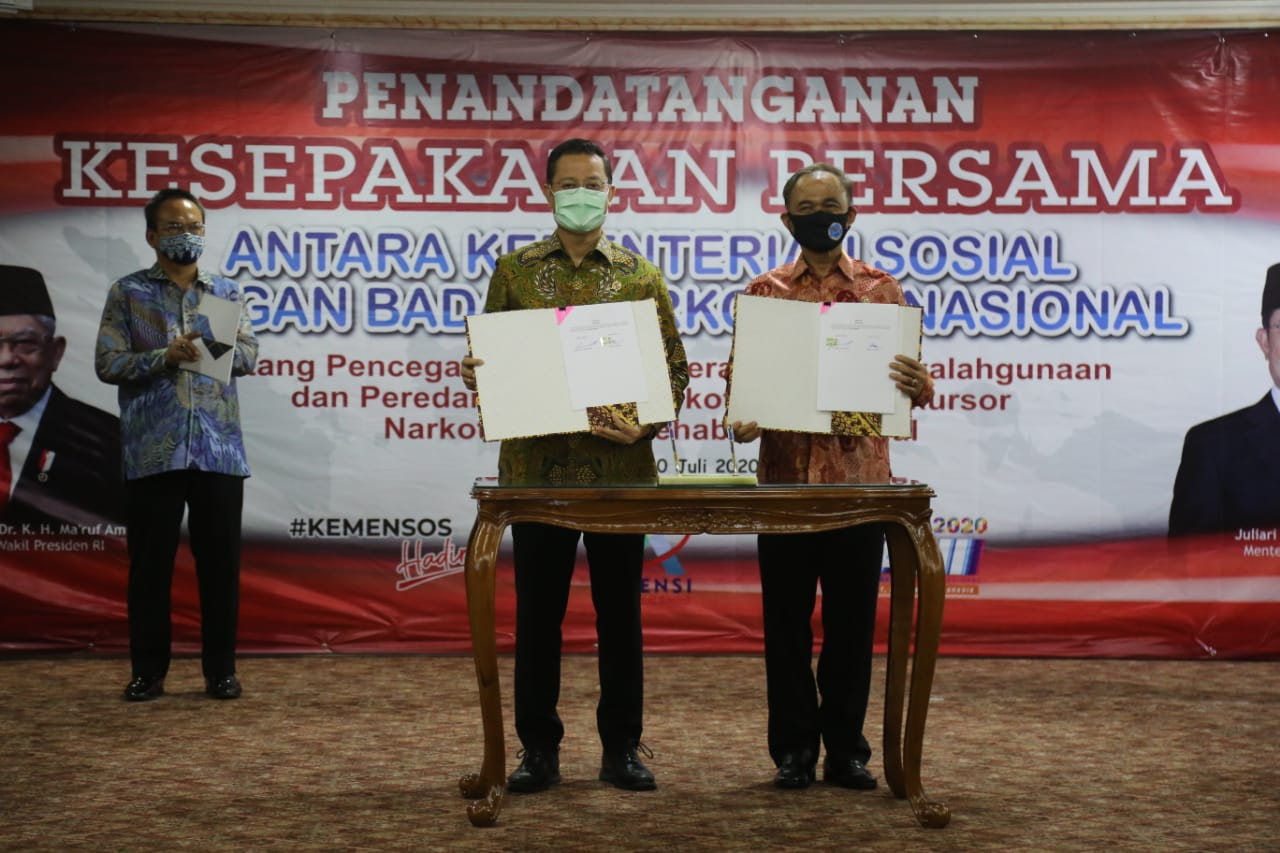 Ministry of Social Affairs Signs MoU with BNN and Launches Guidelines for Drug Rehabilitation Services
