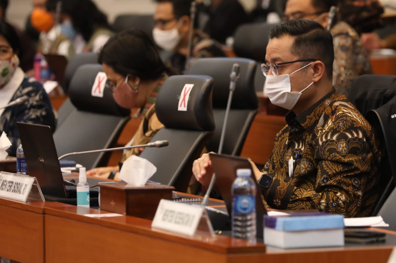 Mensos Hadiri Rapat Kerja Pembahasan Laporan Realisasi Pelaksanaan APBN 2020