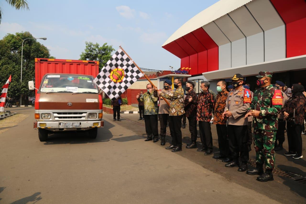 Wujud Terima Kasih, Kemensos Salurkan Sembako untuk KBPP Polri