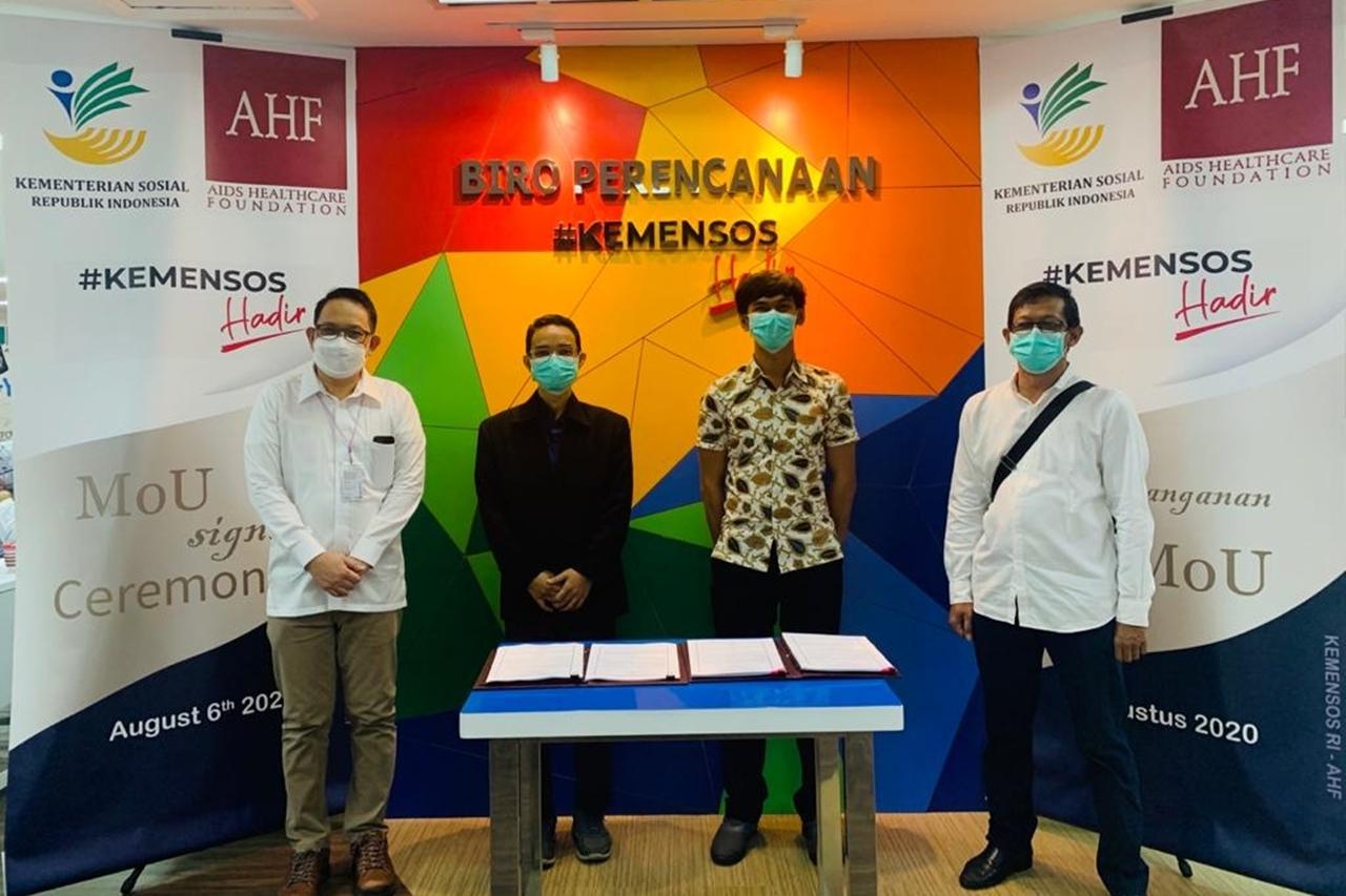 Perkuat Penanganan ODHA, Kemensos Gandeng Aids Healthcare Foundation
