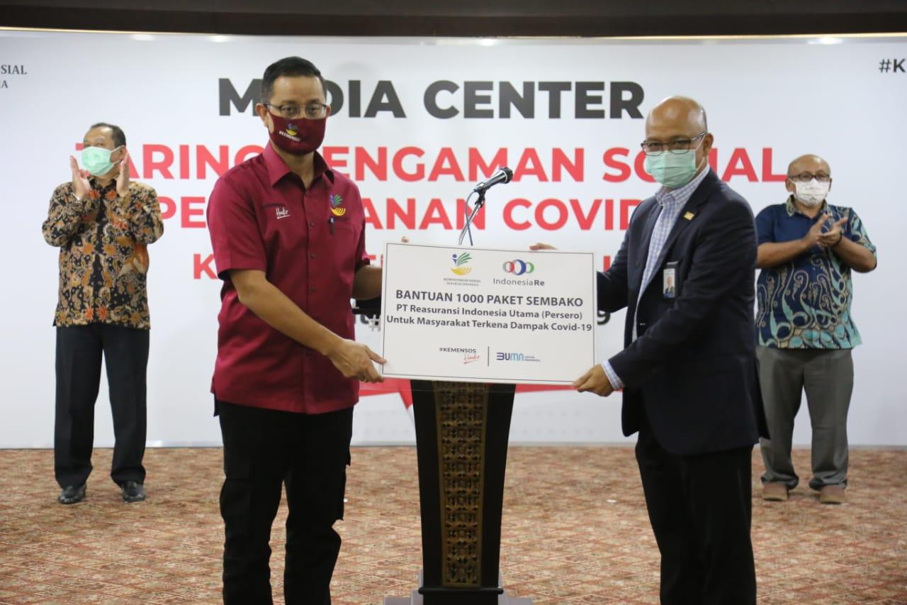 Kemensos Terima Bansos IndonesiaRE Peduli COVID-19