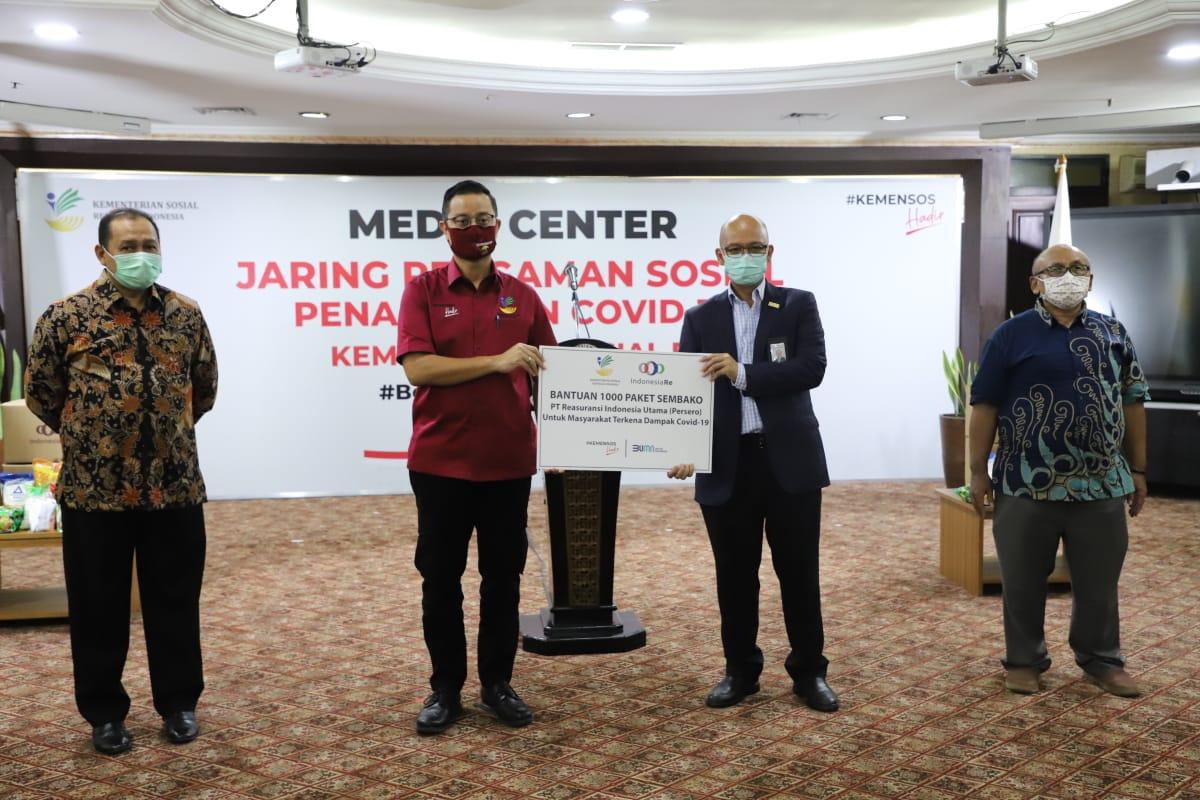 Kemensos Jalin Kerjasama dengan PT. Reasuransi Indonesia Utama