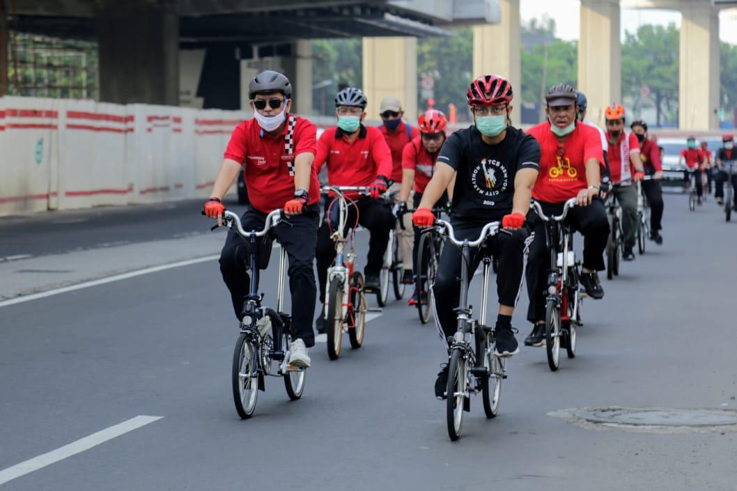 Sepeda Santai Sambut HUT Kemerdekaan RI ke-75