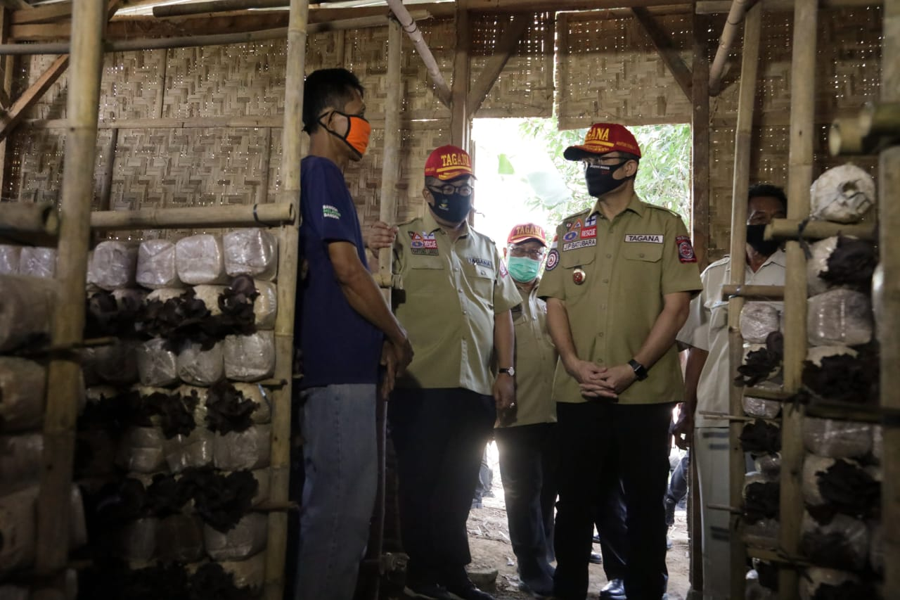 Mensos Tengok Seorang Peserta KUBE di Yogyakarta