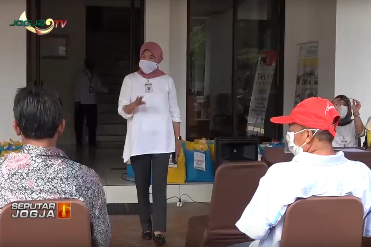 Kepedulian Pegawai BBPPKS Yogyakarta Salurkan Bantuan Sembako