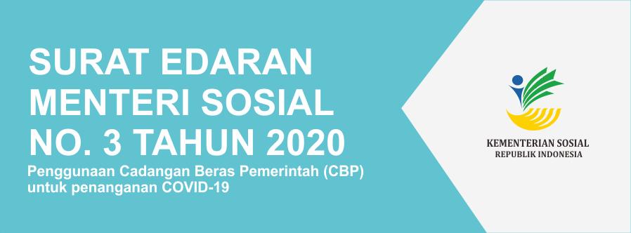 Surat Edaran Menteri Sosial Nomor 3 Tahun 2020